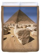 White Pyramid Of King Snefru Duvet Cover