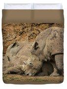 White Rhino 2 Duvet Cover