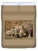White Rhino 3 Duvet Cover