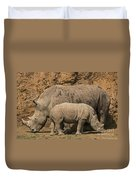 White Rhino 4 Duvet Cover