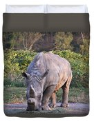 White Rhinoceros  Duvet Cover