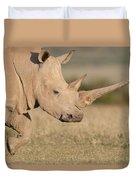 White Rhinoceros Kenya Duvet Cover