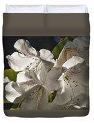 White Rhododendron B Duvet Cover
