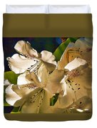 White Rhododendron Duvet Cover
