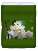 White Rhododendrons Duvet Cover