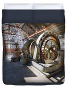 White River Falls State Park Powerhouse Duvet Cover
