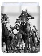 White River With Jockey Tommy Barrow Duvet Cover
