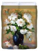 White Rose Elegance Duvet Cover