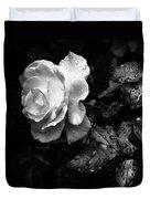 White Rose Full Bloom Duvet Cover