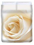 White Rose Heart Duvet Cover