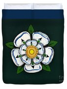 White Rose Of York Duvet Cover