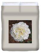 White Rose Square Duvet Cover