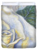 White Rose Two Panel Two Of Four Duvet Cover