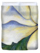 White Rose Two Panel Three Of Four Duvet Cover