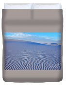 White Sand Patterns New Mexico Duvet Cover by Bob Christopher