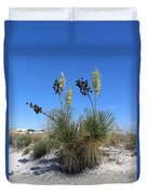 White Sands Dune With Soap Yucca Duvet Cover