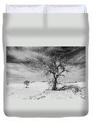 White Sands National Monument 1 Light Mono Duvet Cover