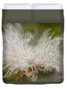 White Seedhad Of Mountain Avens Duvet Cover