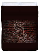 White Sox Baseball Graffiti On Brick  Duvet Cover by Movie Poster Prints