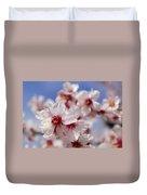White Spring Almond Flowers Duvet Cover