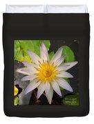 White Star Lotus Duvet Cover