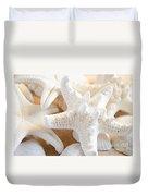 White Starfish 2 Duvet Cover