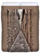 White Streets Of Dubrovnik No3 Duvet Cover