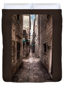 White Streets Of Dubrovnik No5 Duvet Cover