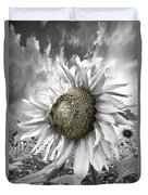 White Sunflower Duvet Cover