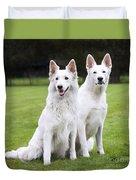 White Swiss Shepherd Dogs Duvet Cover