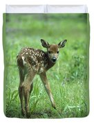 White-tailed Deer Fawn Meadow Duvet Cover