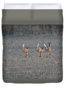 White Tailed Deer Running Duvet Cover