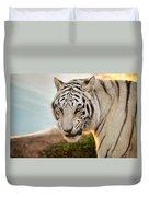 White Tiger At Sunrise Duvet Cover