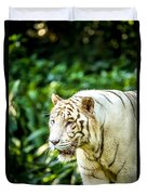 White Tiger Portriat Duvet Cover