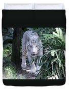 White Tiger  Duvet Cover
