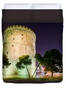White Tower In Salonica Greece Duvet Cover