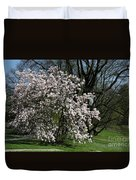 White Tulip Tree Duvet Cover