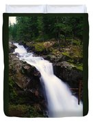 White Water Falling  Duvet Cover