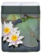 White Water Lilies Netherlands Duvet Cover by Jelger Herder
