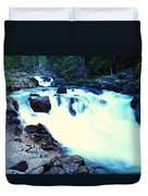 White Water On The Ohanapecosh River  Duvet Cover