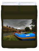 White Water Rafting Boat Duvet Cover