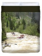 Animas River White Water Rafting The  Duvet Cover