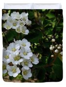 White Wildflowers Duvet Cover