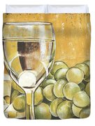 White Wine And Cheese Duvet Cover by Debbie DeWitt