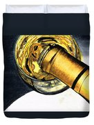 White Wine Art - Lap Of Luxury - By Sharon Cummings Duvet Cover