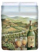 White Wine Lovers Duvet Cover by Marilyn Dunlap