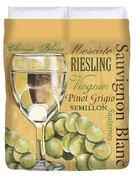 White Wine Text Duvet Cover