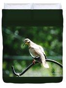 White Winged Dove Duvet Cover
