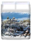 White Winter In The Desert Of Tucson Arizona Duvet Cover