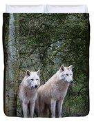 White Wolf Pair Duvet Cover
